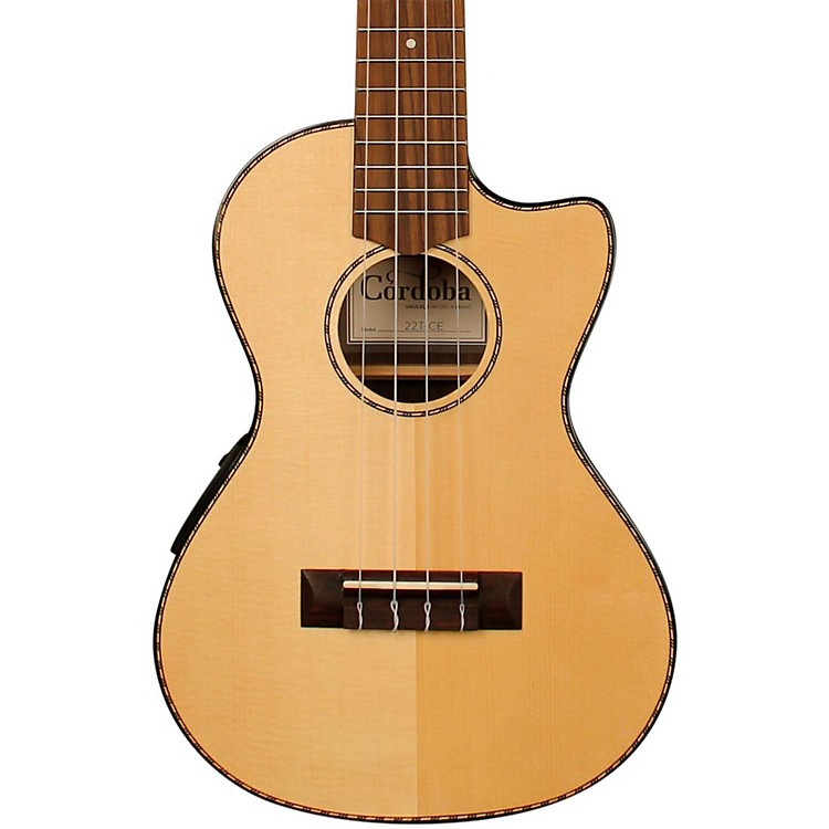 Cordoba 22T-CE Tenor Acoustic-Electric Ukulele Natural
