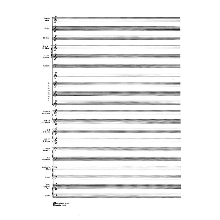 Music Sales23. Score Pad: 20-stave (Concert Band) (Passantino Manuscript Paper) Music Sales America Series