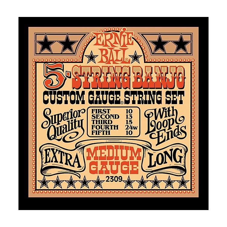 Ernie Ball2309 Medium Gauge 5-String Banjo Strings