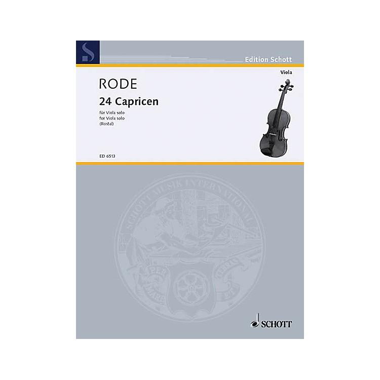 Schott24 Caprice Etudes in the form of Etudes, in all 24 Keys (Viola) Schott Series