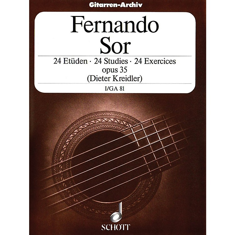 Schott 24 Etudes, Op. 35 (Volume 1: 12 Very Easy Exercises) Schott Series