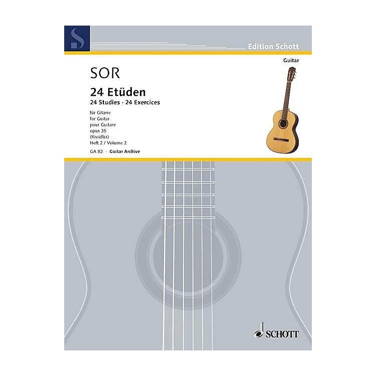 Schott24 Etudes, Op. 35 (Volume 2: 12 Exercises) Schott Series