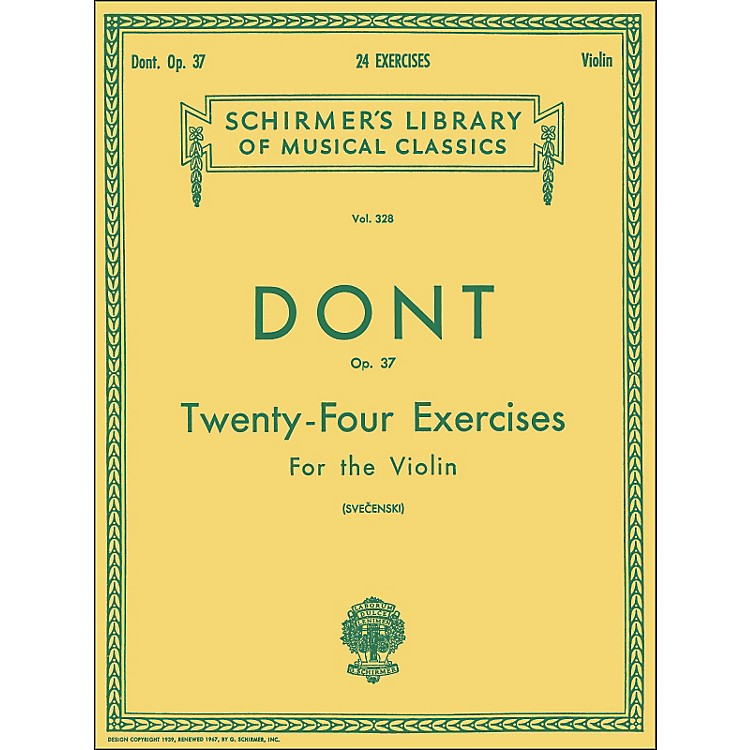 G. Schirmer24 Exercises Op 37 Violin 24 By Dont