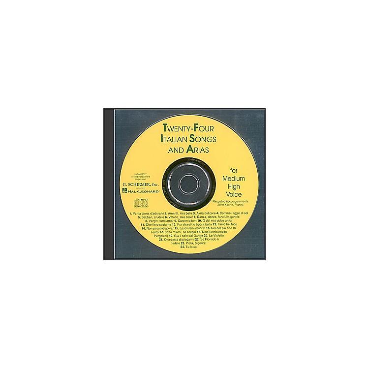G. Schirmer24 Italian Songs And Arias for Medium High Accompaniment CD