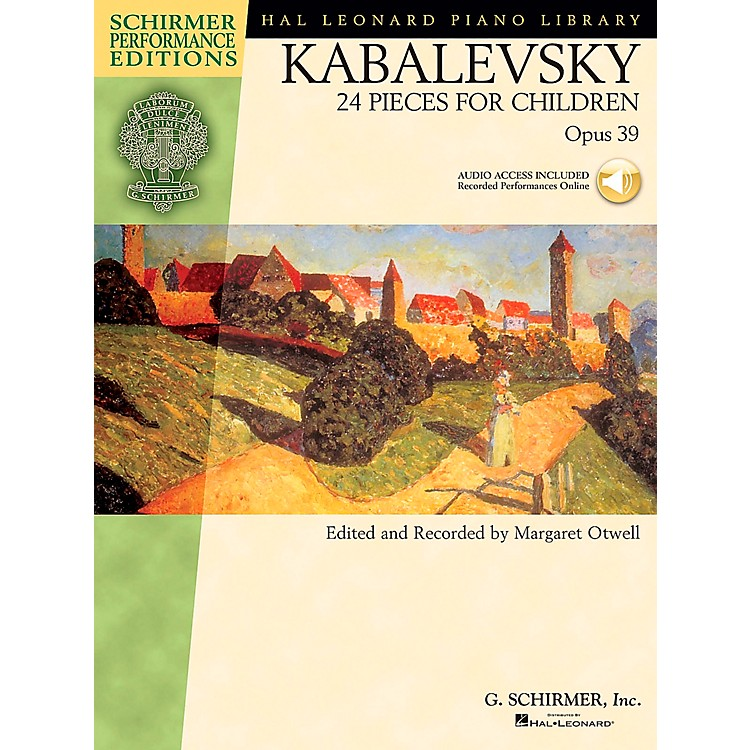G. Schirmer 24 Pieces for Children Op 39 Book/CD - Schirmer Performance Edition By Kabalevsky / Otwell