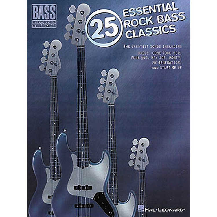Hal Leonard25 Essential Rock Bass Classics Tab Songbook