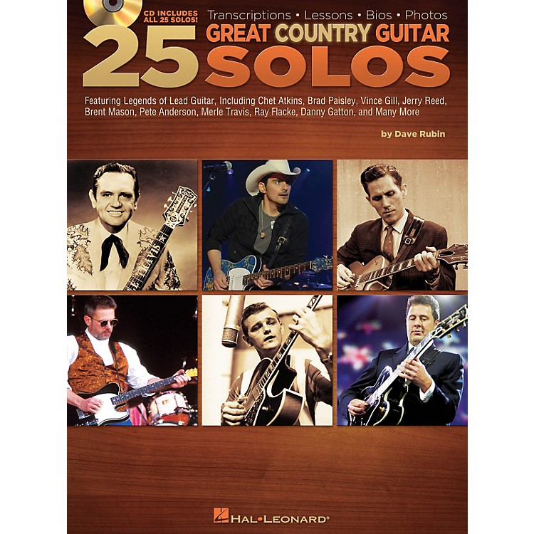 Hal Leonard25 Great Country Guitar Solos (Book/CD)