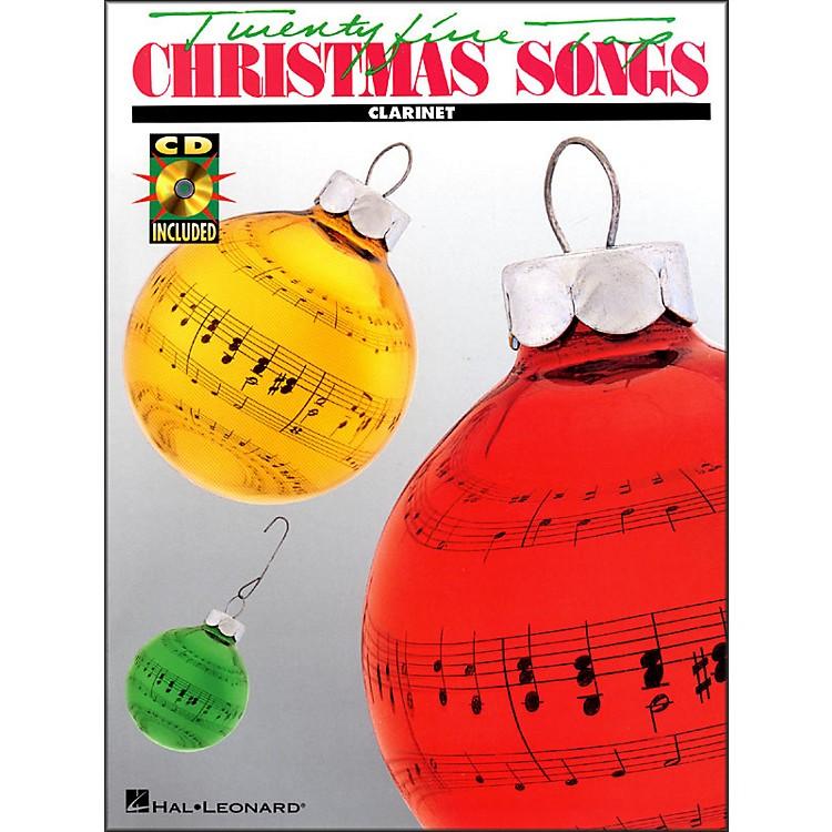 Hal Leonard25 Top Christmas Songs for Clarinet Book/CD
