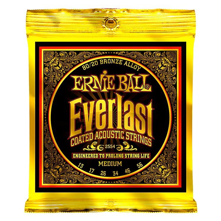 Ernie Ball2554 Everlast 80/20 Bronze Medium Acoustic Guitar Strings
