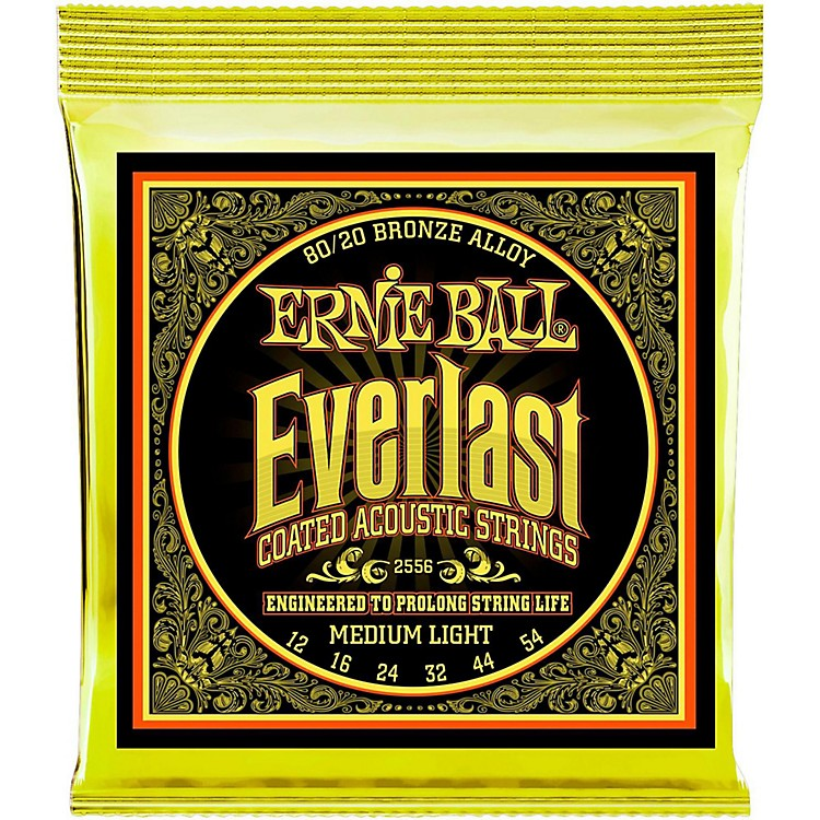 Ernie Ball 2556 Everlast 80/20 Bronze Medium Light Acoustic Guitar Strings