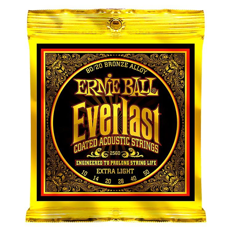Ernie Ball2560 Everlast 80/20 Bronze Extra Light Acoustic Guitar Strings