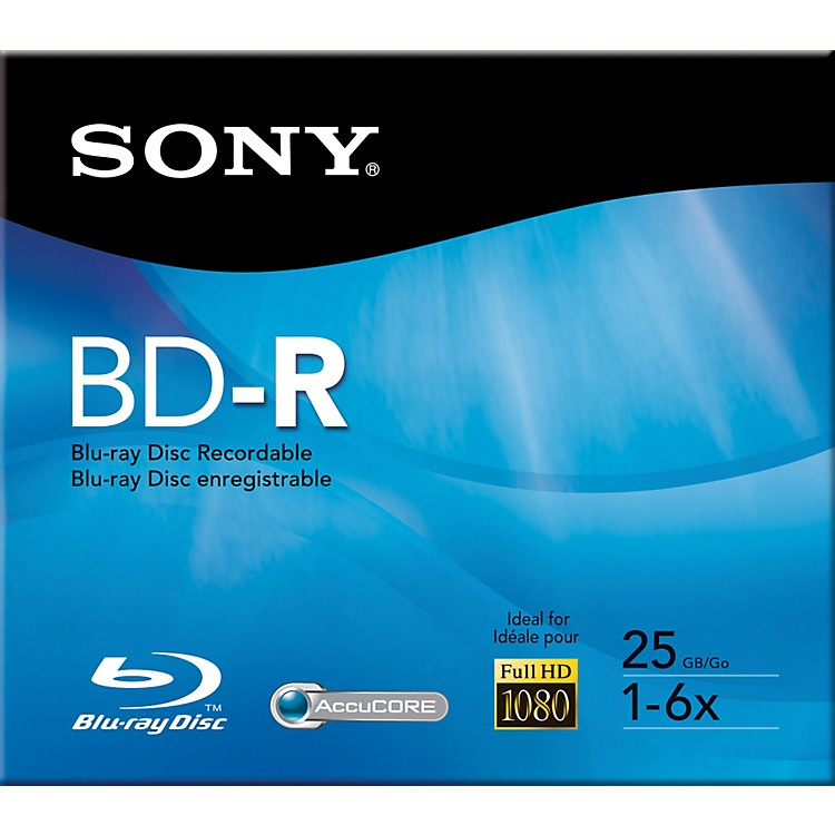 Sony 25GB Recordable Single Layer Blue-ray Disc