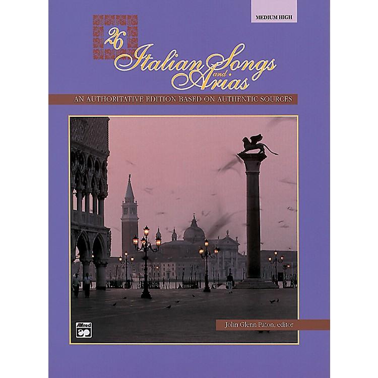 Alfred26 Italian Songs and Arias Book (Medium High)