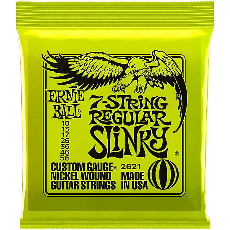 Ernie Ball 2621 Nickel 7-String Slinky Electric Guitar Strings