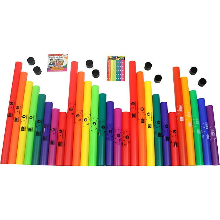 Boomwhackers 27 Tube Classroom Pack With Free Play-Along DVD.
