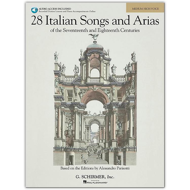 G. Schirmer28 Italian Songs And Arias for Medium High Book/Online Audio