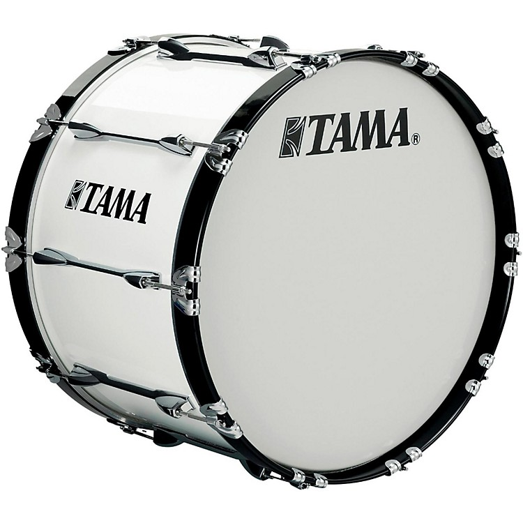 Tama Marching 28 x 14 in. Starlight Marching Bass Drum with Carrier Sugar White