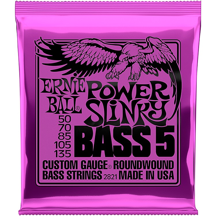 Ernie Ball2821 Power Slinky 5-String Bass Strings