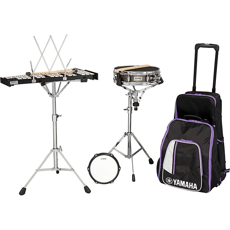 Yamaha285 Series Mini Snare and Bell Kit with Backpack and Rolling Cart