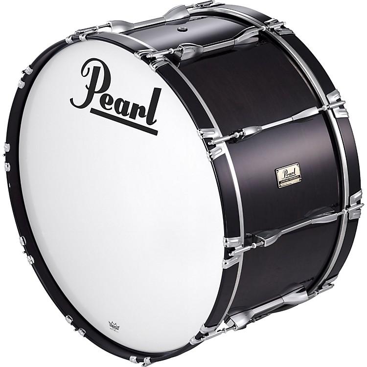 Pearl28x14 Championship Series Marching  Bass DrumMidnight Black