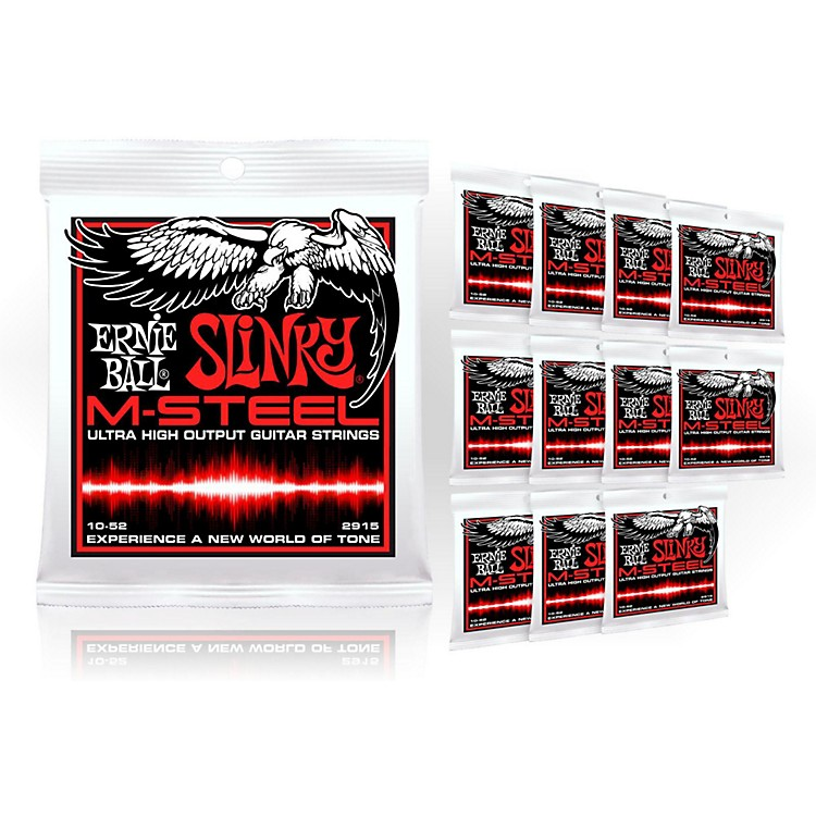 Ernie Ball2915 M-Steel Skinny Top Heavy Bottom Electric Guitar Strings - Buy 10, Get 2 FREE