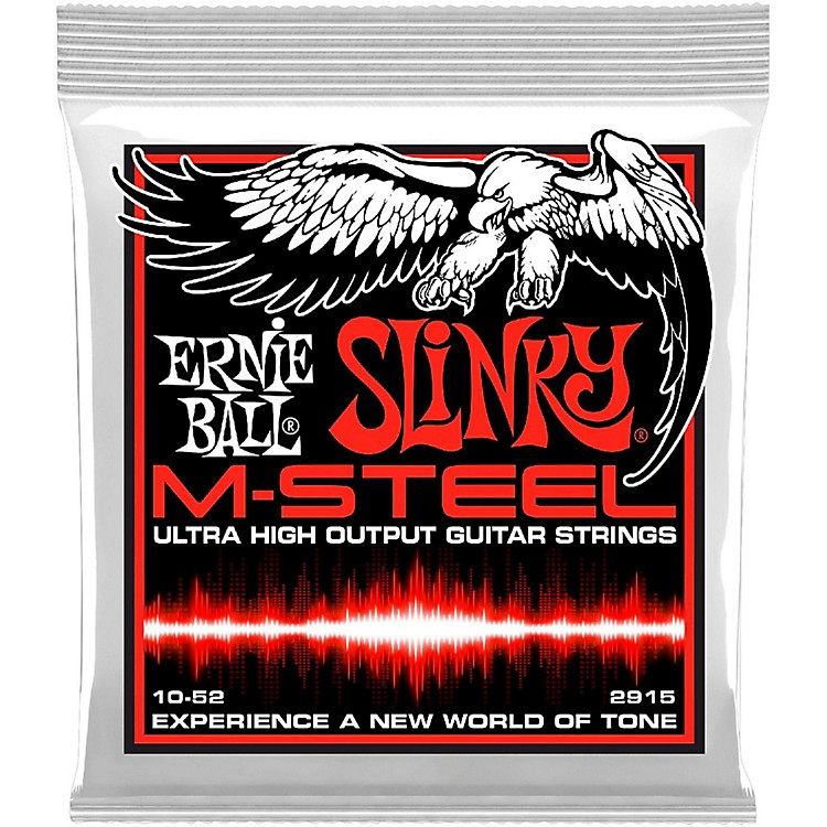 Ernie Ball 2915 M-Steel Skinny Top Heavy Bottom Electric Guitar Strings