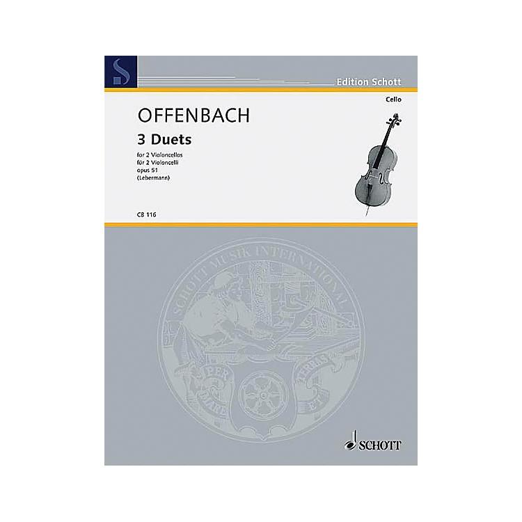 Schott3 Duets Op. 51 (2 Cellos) Schott Series