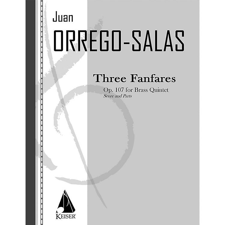 Lauren Keiser Music Publishing3 Fanfares, Op. 107 (Tres Fanfarrias) LKM Music Series by Juan Orrego-Salas