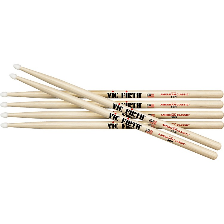 Vic Firth 3-Pair American Classic Hickory Drumsticks Nylon 2B