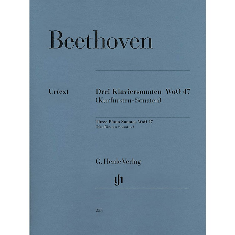 G. Henle Verlag3 Piano Sonatas WoO 47 (Kurfürsten-Sonatas) Henle Music Folios Series Softcover