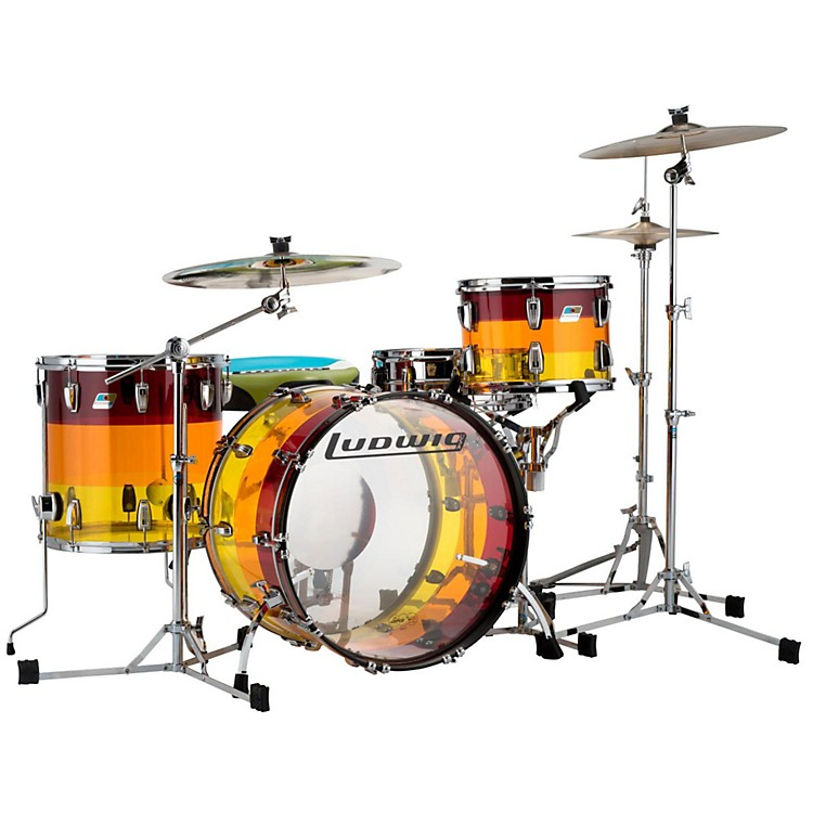 Ludwig3-Piece Vistalite Tequila Sunrise Shell Pack