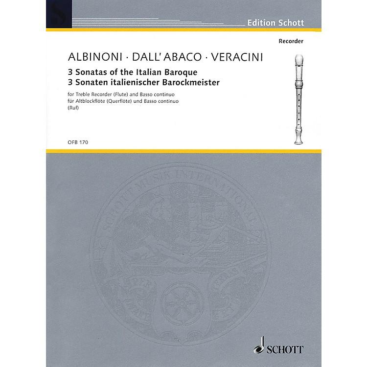 Schott3 Sonatas of the Italian Baroque (for Treble Recorder (Flute) and Basso Continuo) Schott Series