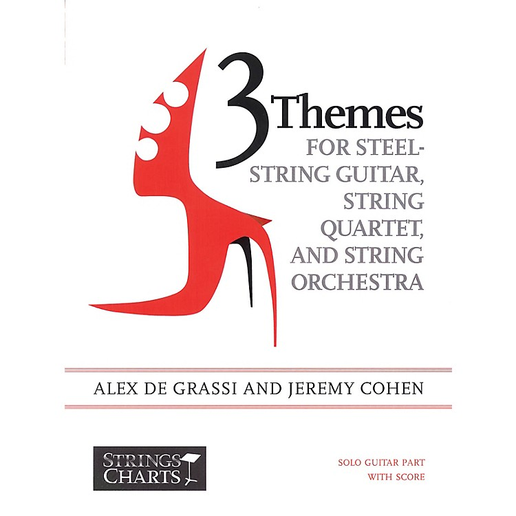 String Letter Publishing3 Themes for Steel-String Guitar, String Quartet, String Orchestra: Intermediate Band Method by Cohen
