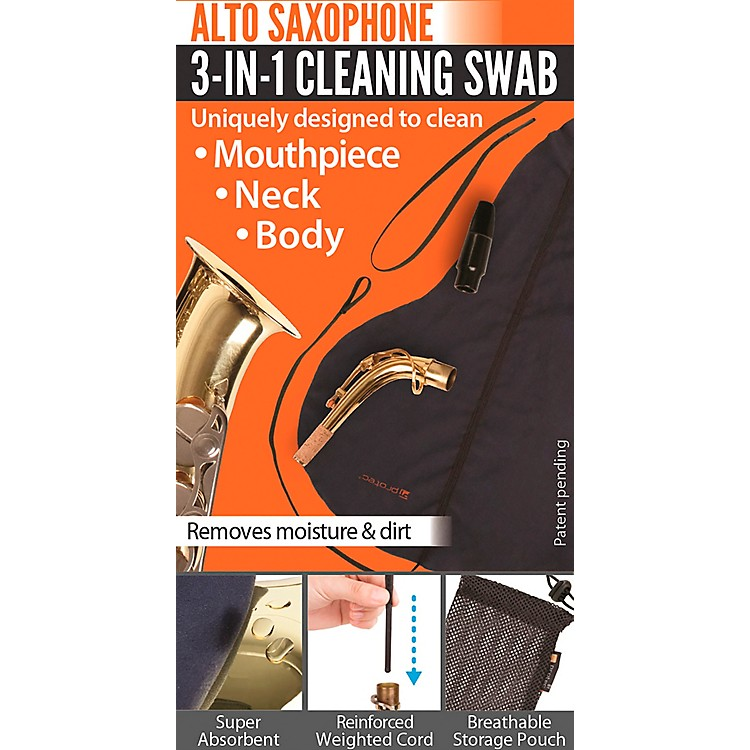 Protec3-in-1 Alto Saxophone Swab (Body, Neck, and Mouthpiece)
