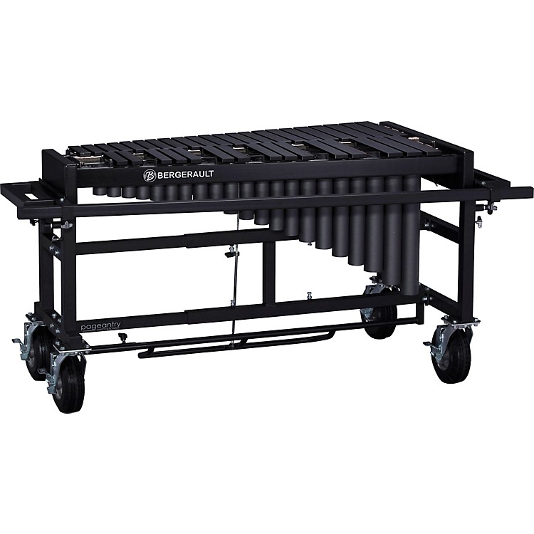Bergerault 3.0 Octave Performance Series Vibraphone Black Finish Aluminum Bars Field Frame without Motor