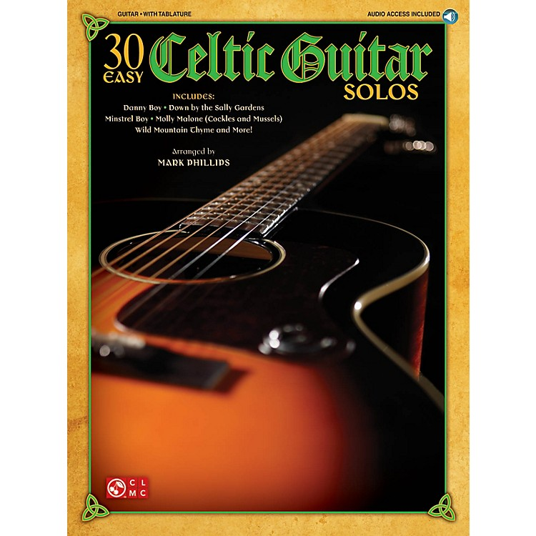 Cherry Lane30 Easy Celtic Guitar Solos Easy Guitar Series Softcover with CD