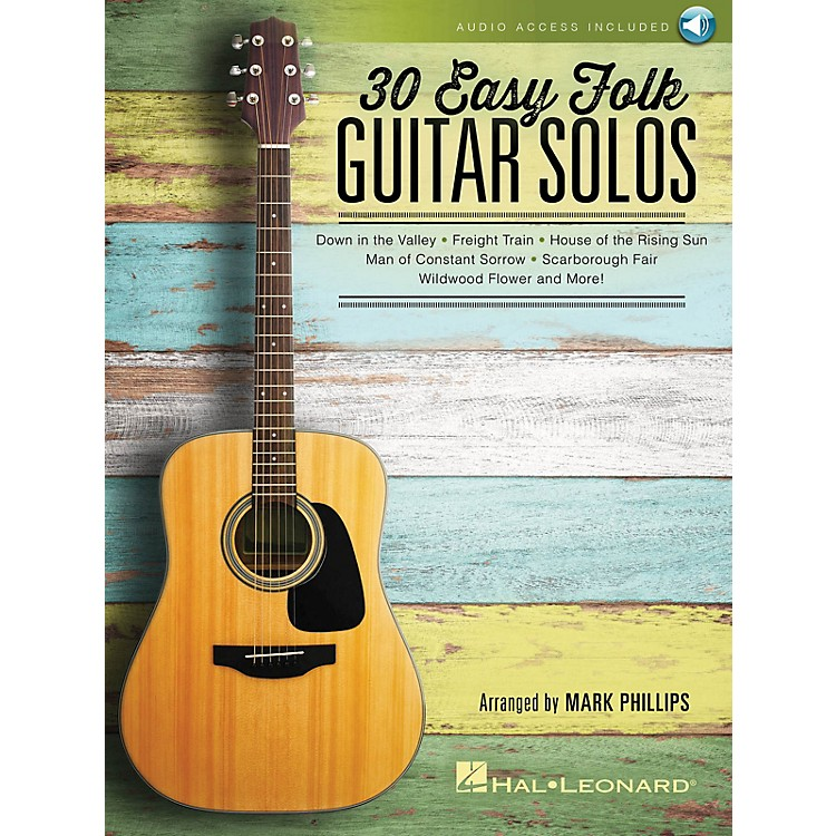 Hal Leonard30 Easy Folk Guitar Solos Guitar Solo Series Softcover Audio Online Performed by Various