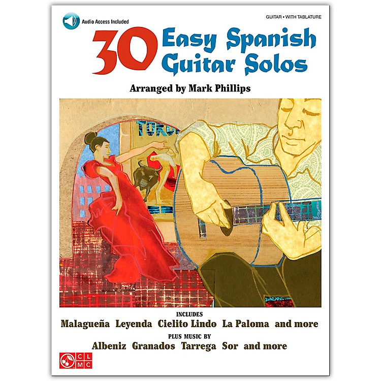 Cherry Lane30 Easy Spanish Guitar Solos Book/Online Audio