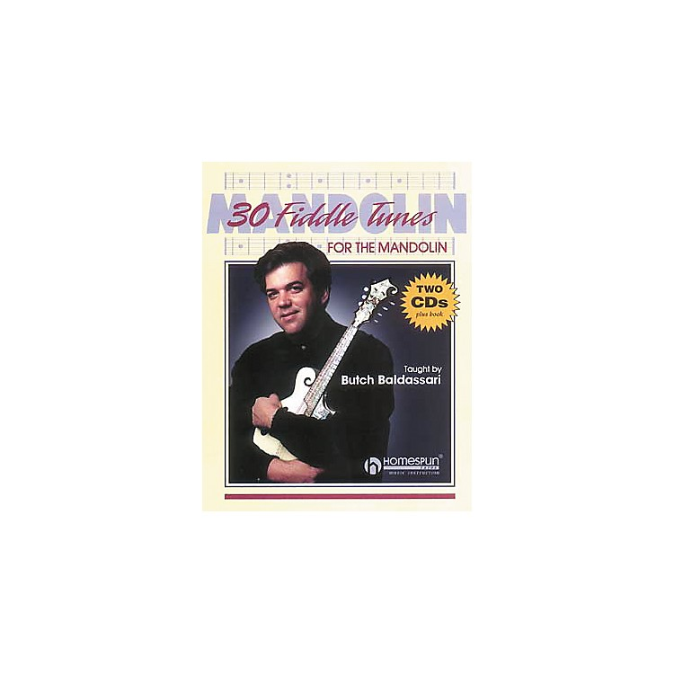 Homespun 30 Fiddle Tunes for Mandolin Taught by Butch Baldassari Book with CD