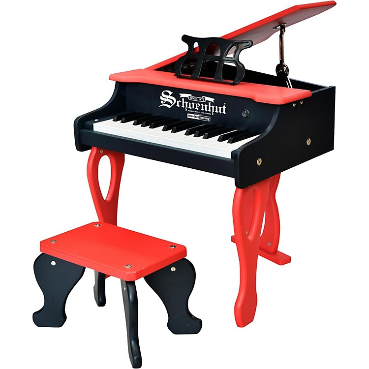 Schoenhut 30-Key 2 Tone Baby Grand Red/Black