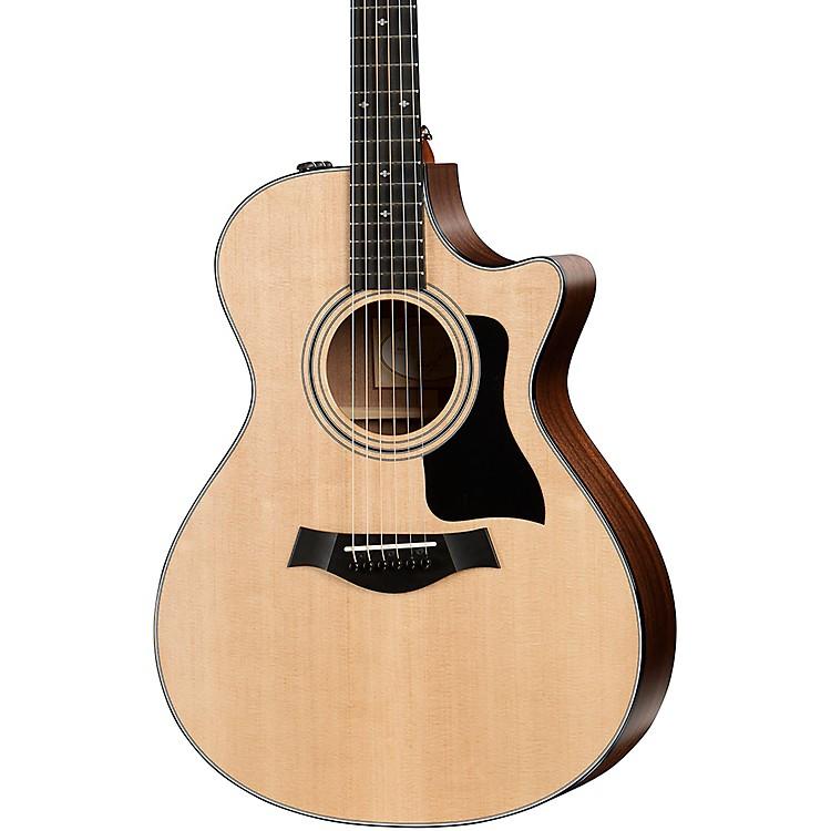 Taylor300 Series 312ce Grand Concert Acoustic-Electric Guitar RegularNatural