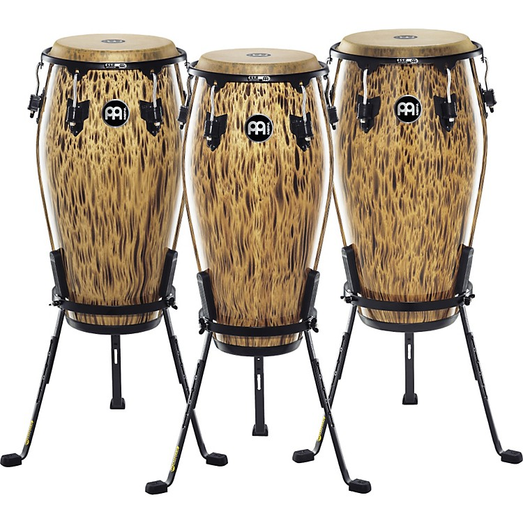 Meinl 30th Anniversary Edition Marathon Classic Series Conga with Steely II Stand Leopard Burl 11 in.