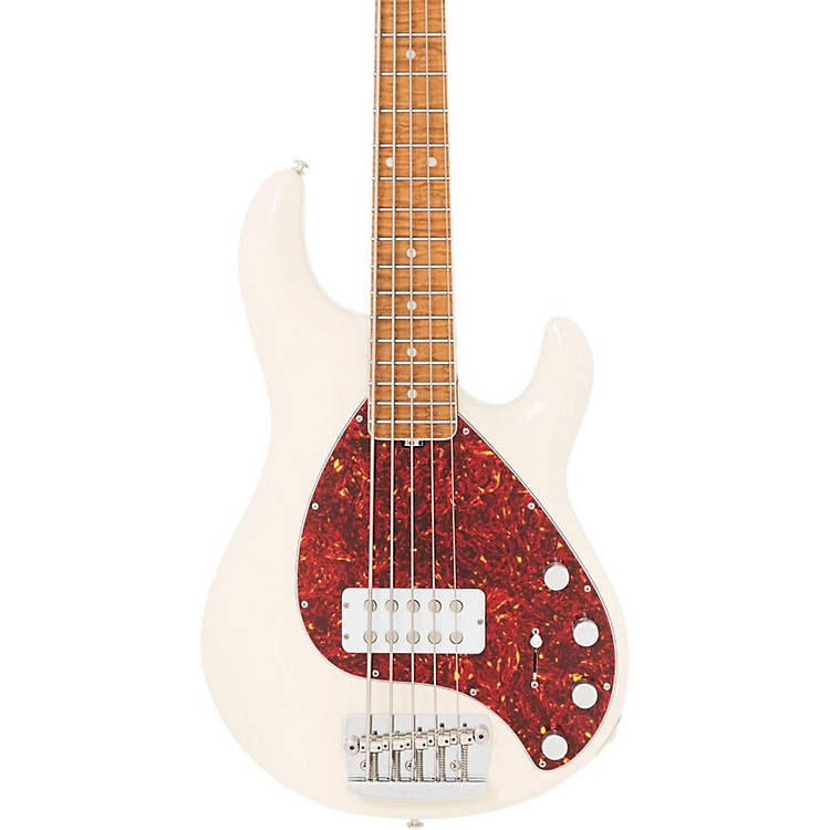 Ernie Ball Music Man 30th Anniversary StingRay5 Five-String Electric Bass Guitar Transparent Buttercream