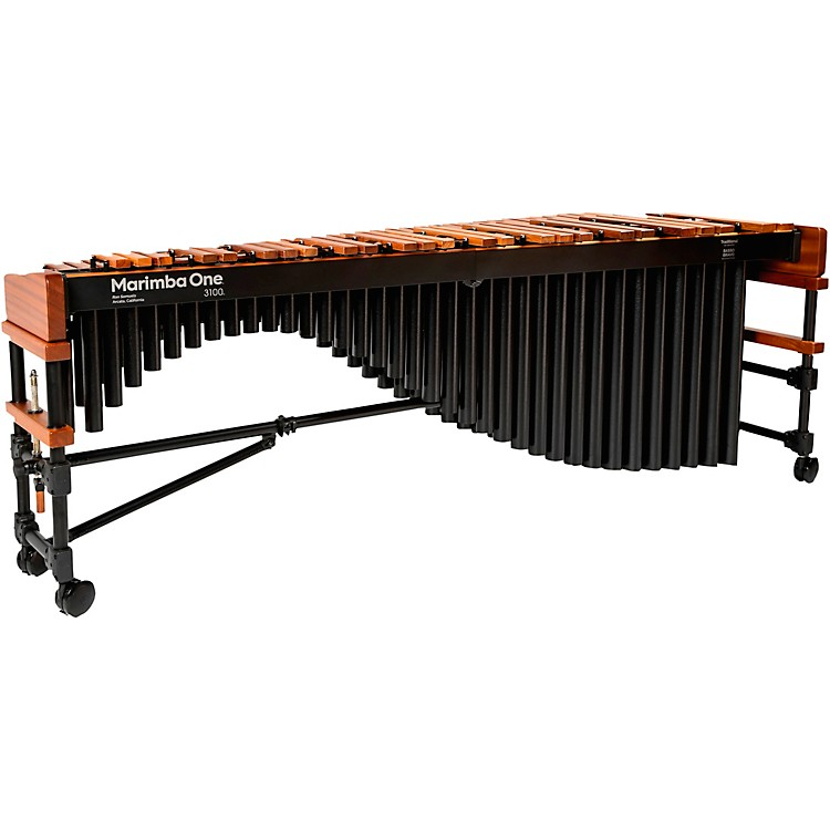 Marimba One 3100 #9305 A442 Marimba with Enhanced Keyboard and Basso Bravo Resonators 5 Octave Concert Frame