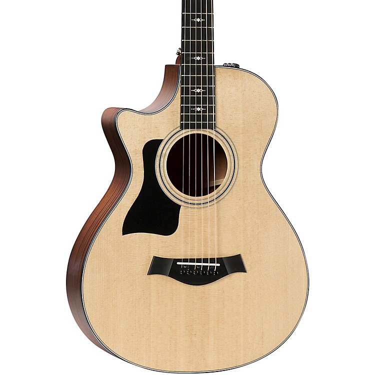 Taylor312ce 12-Fret V-Class Grand Concert Left-Handed Acoustic-Electric GuitarNatural