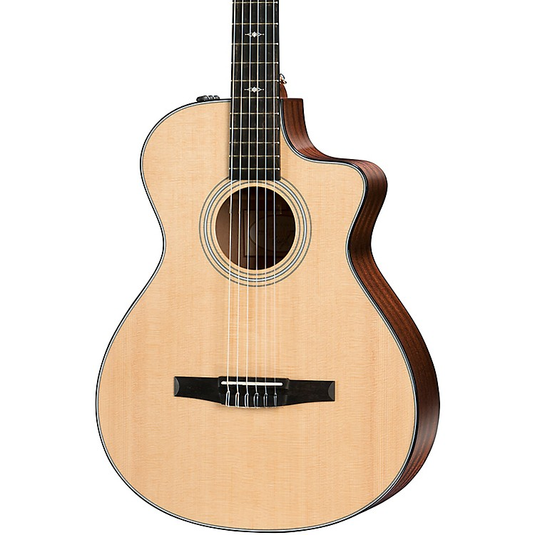 Taylor 312ce-N Grand Concert Nylon-String Acoustic-Electric Guitar Natural