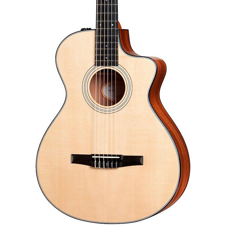 Taylor312ce-N Sapele/Spruce Nylon String Grand Concert Acoustic-Electric Guitar