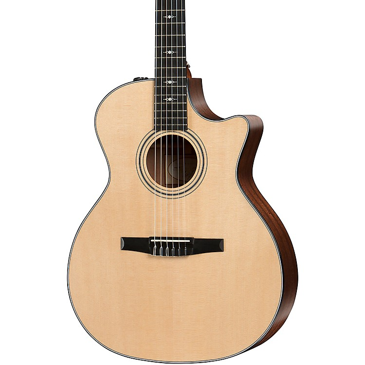 Taylor 314ce-N Grand Auditorium Nylon-String Acoustic-Electric Guitar Natural