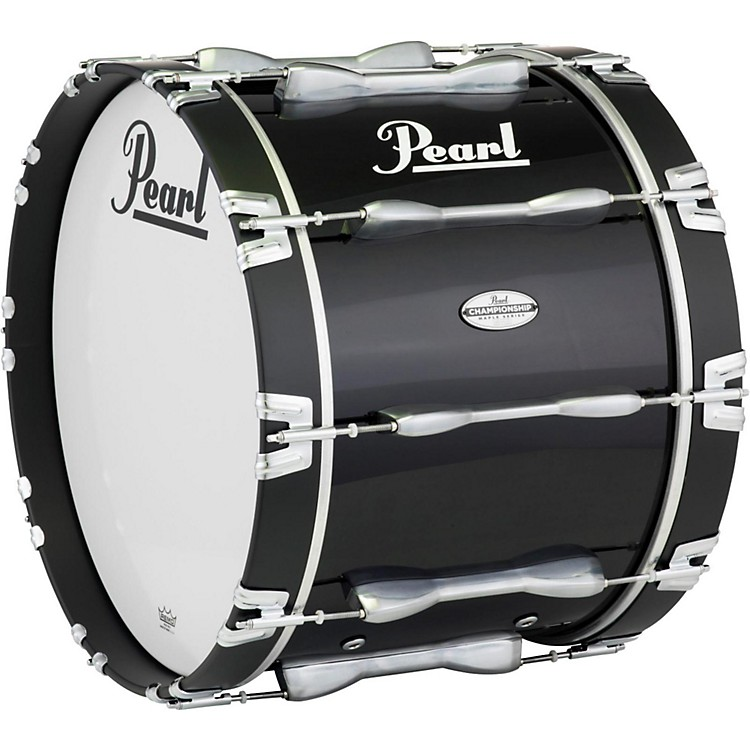 Pearl32 x 14 in. Championship Maple Marching Bass DrumMidnight Black