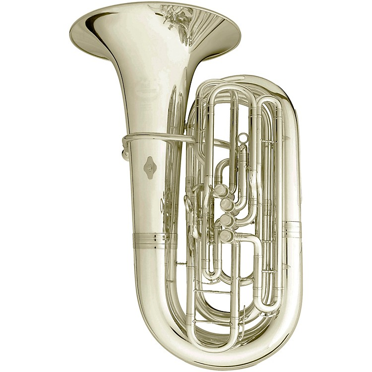 B&S 3301 Series 4-Valve 4/4 BBb Tuba Silver plated